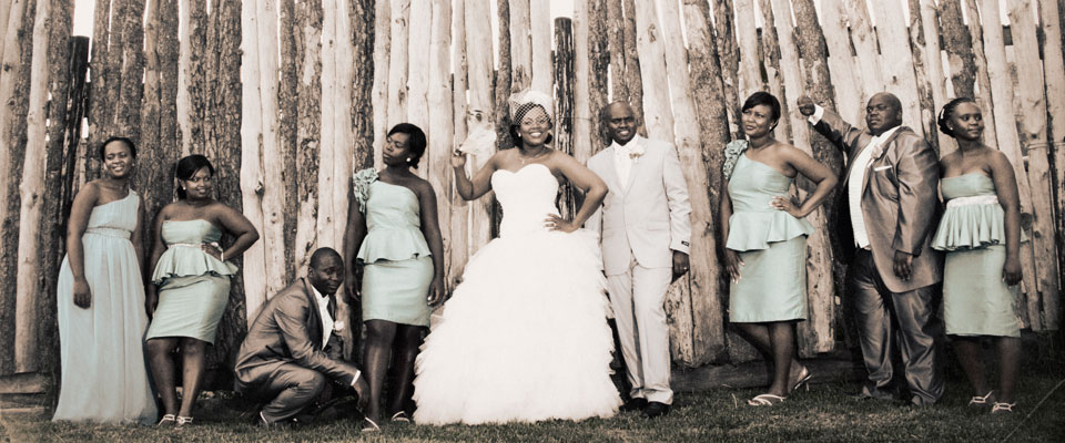 Wedding Photo of Nangamso & Ndabenhle at Slipper Fields
