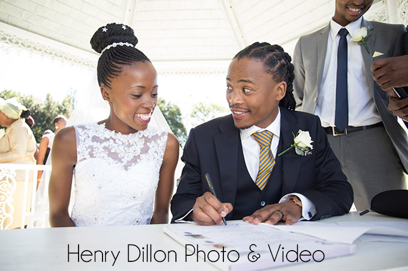 signing the registry at a wedding